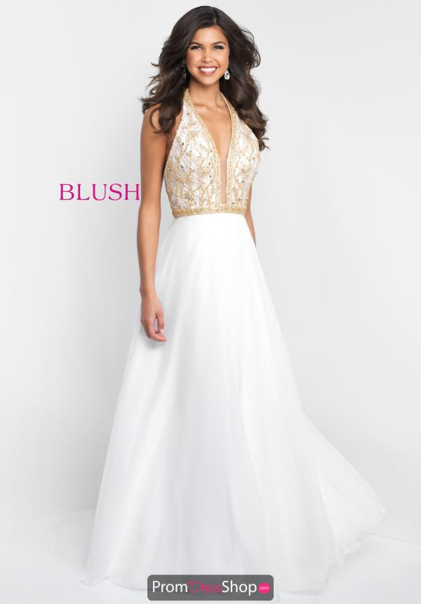 Blush V- Neckline Beaded Dress 11523