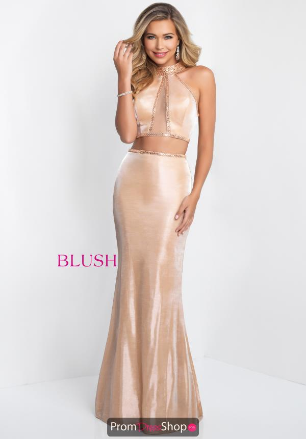 Blush Long Fitted Dress 11524