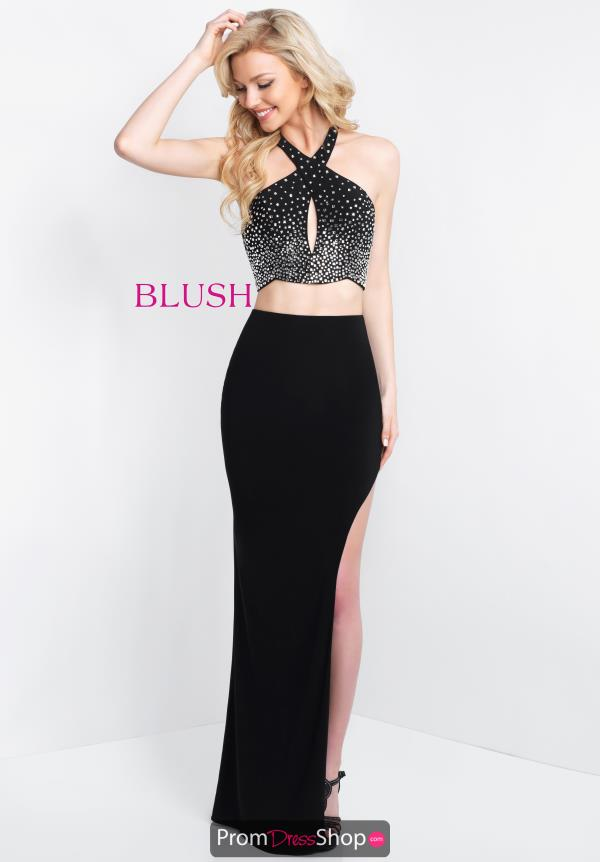 Blush Fitted Jersey Dress 11531