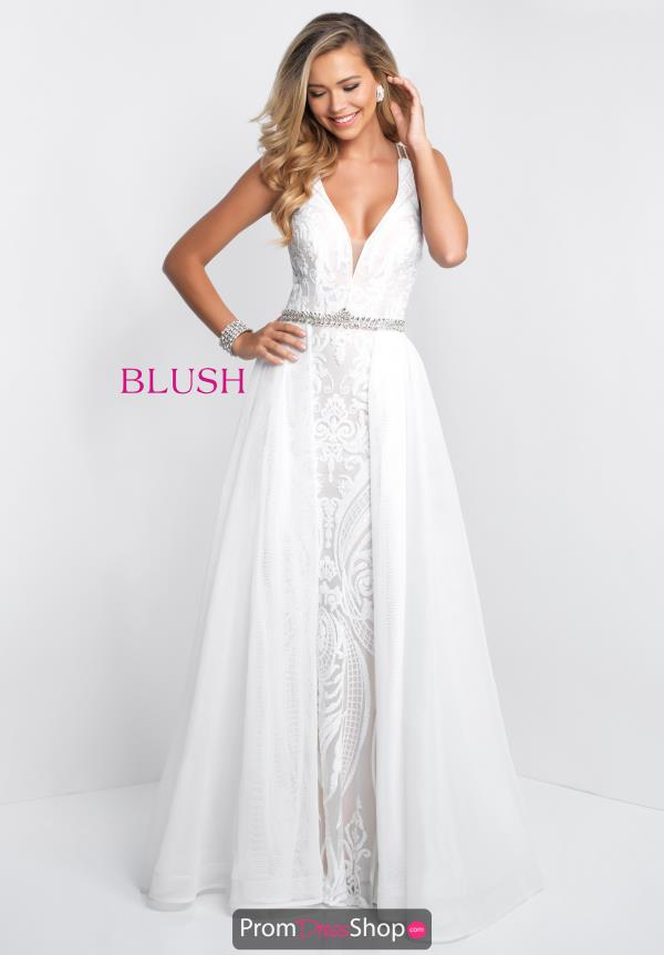 Blush Fitted Long Dress 11546