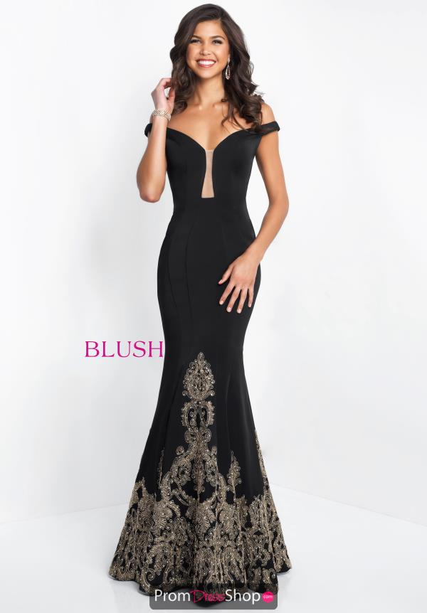 Blush Long Fitted Dress 11547