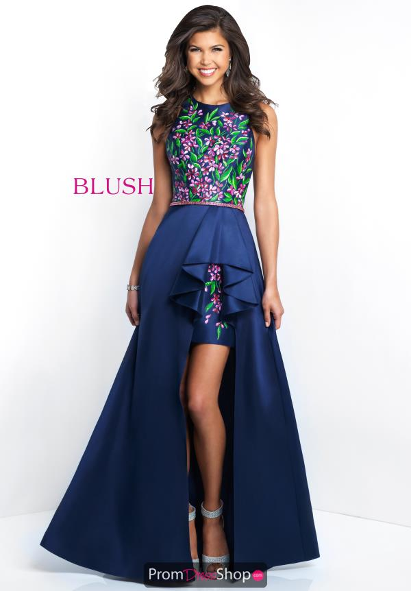 Blush Navy High Low Dress 11554