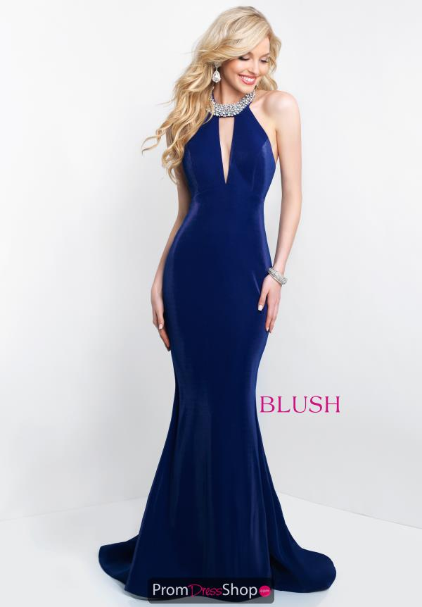 Blush Long Fitted Dress 11563