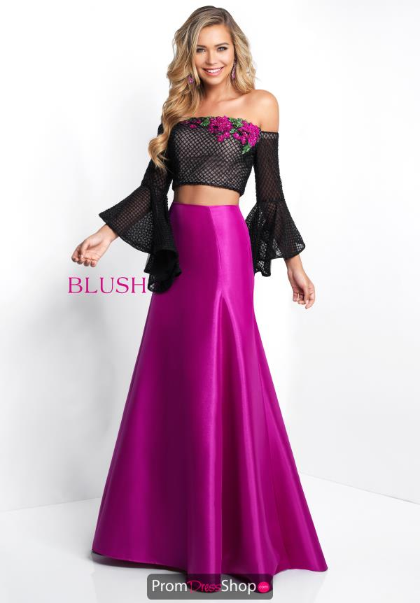 Blush Fitted Mermaid Dress 11567