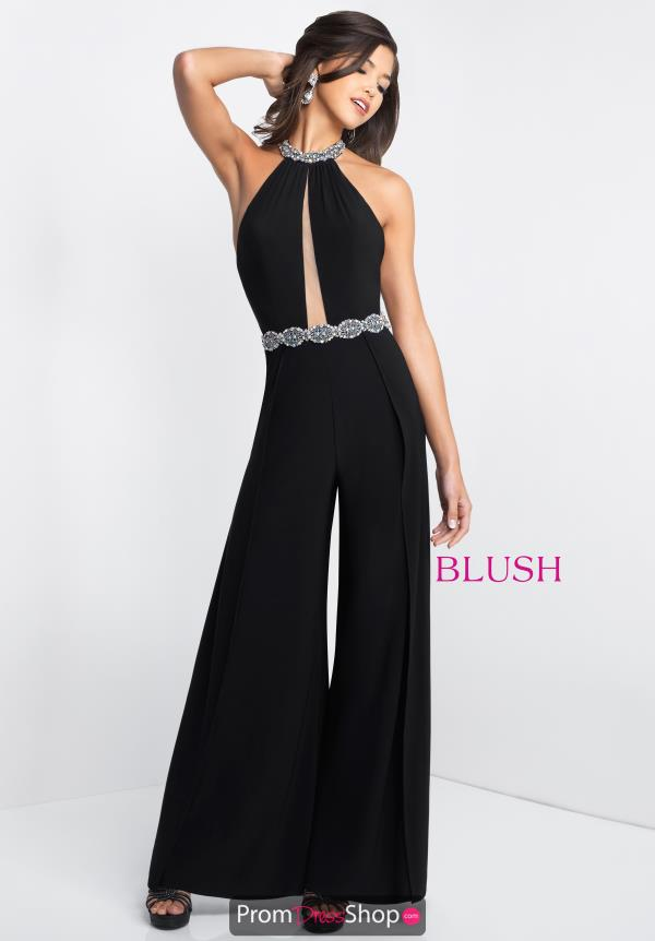 Blush High Neckline Jumpsuit 11583