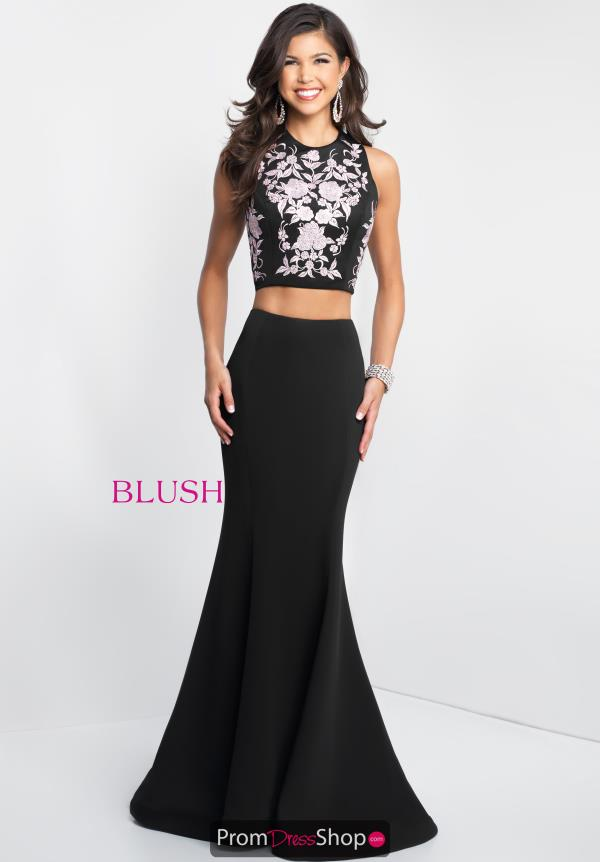 Blush Fitted Two Piece Dress 11588