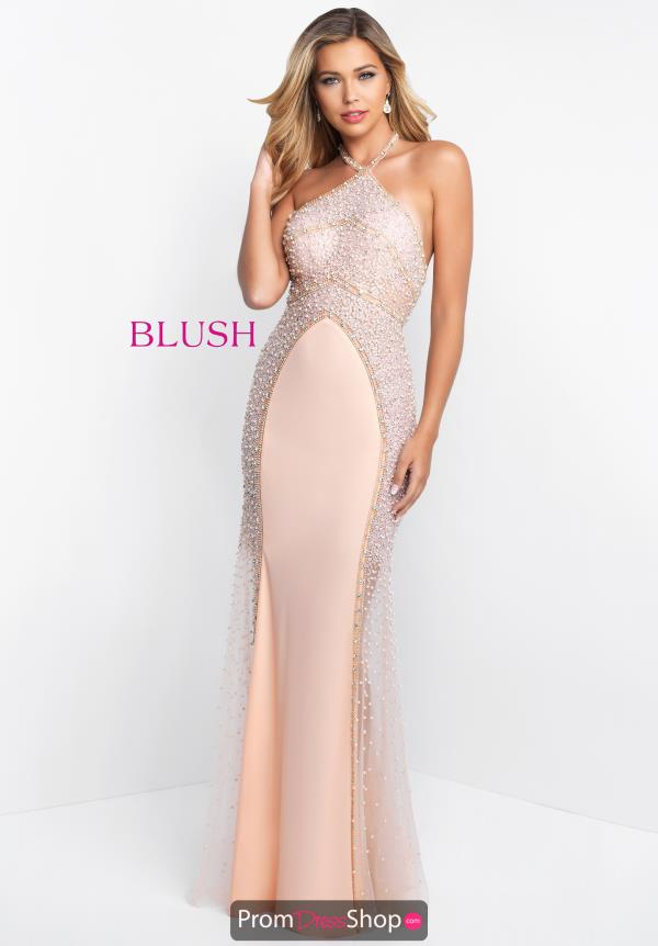 Blush Long Fitted Dress C1005