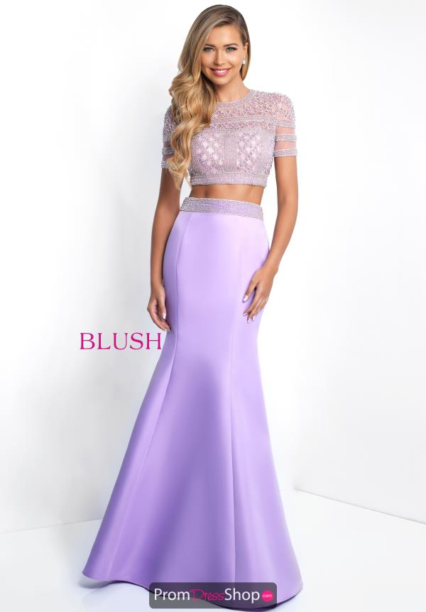 Blush Sleeved Fitted Dress C1006