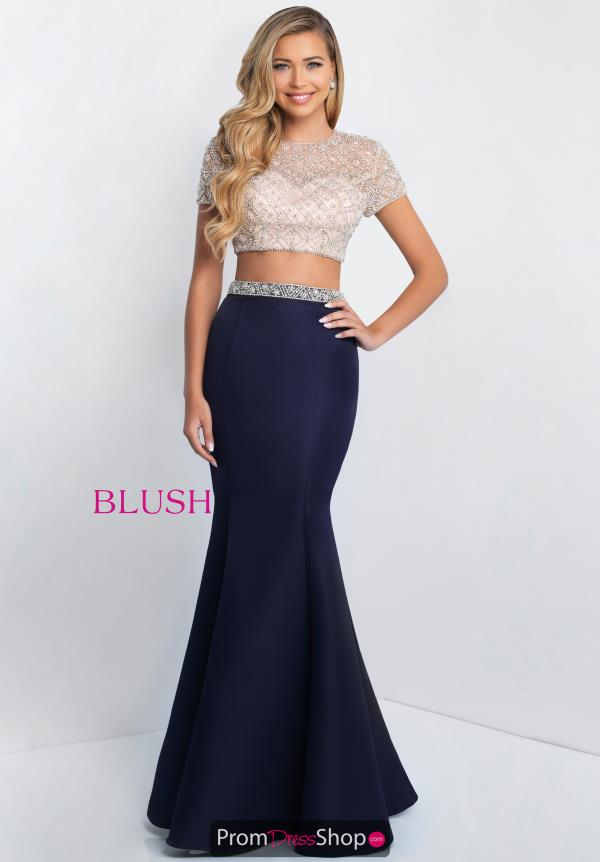 Blush Two Piece Fitted Dress C1007