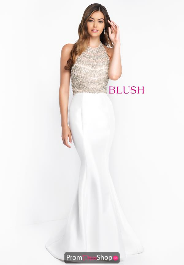 Blush High Neckline Mermaid Dress C1011