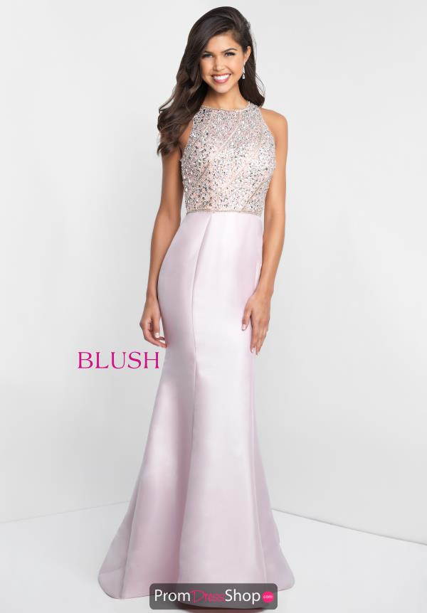 Blush Fitted Long Dress C1012