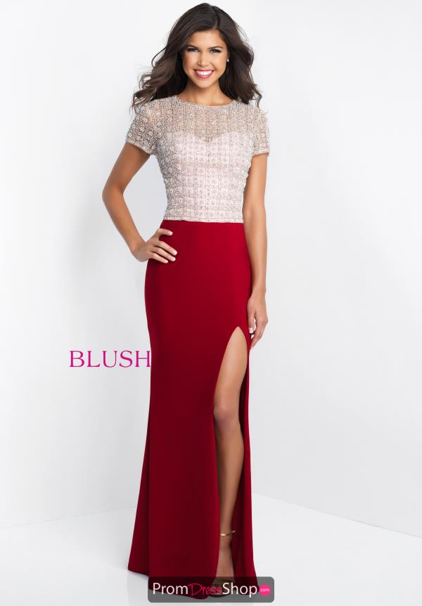 Blush Long Beaded Dress C1020