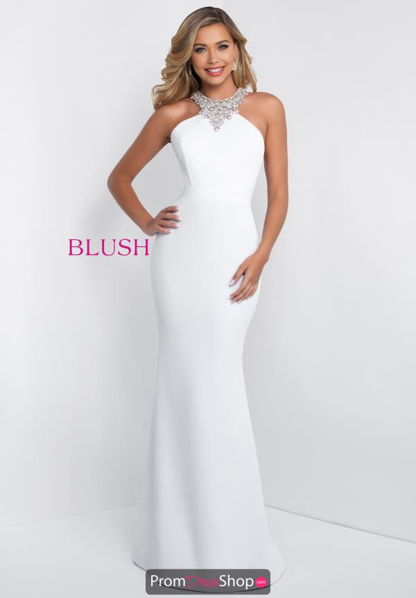 Blush Long Fitted Dress C1022