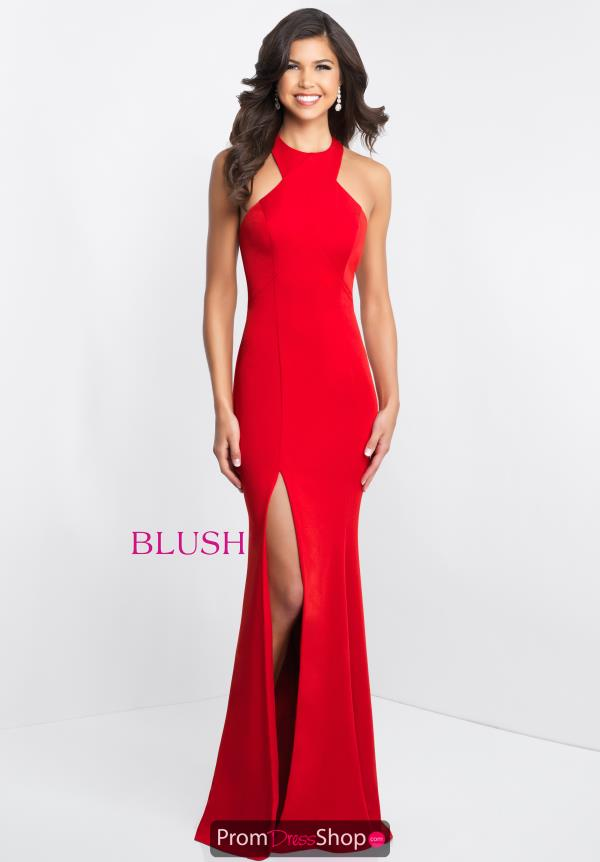 Blush High Neckline Fitted Dress C1029