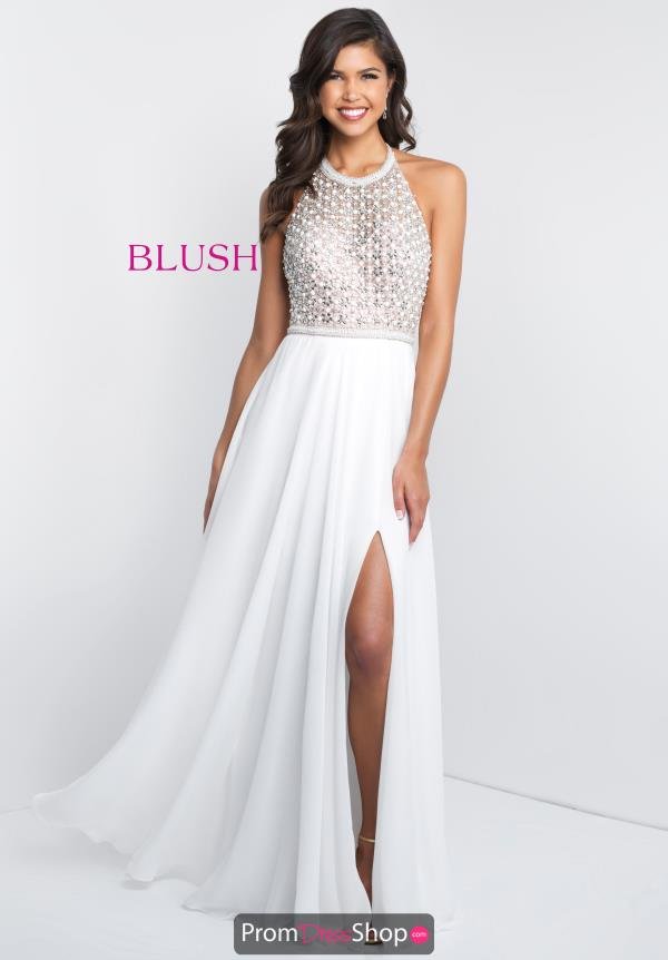 Blush Long A Line Dress C1033