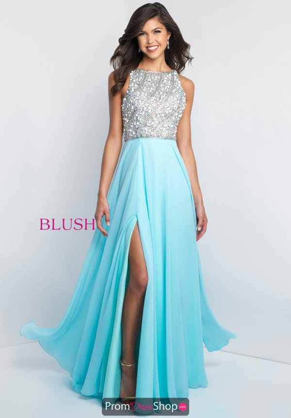 Blush Long Beaded Dress C1034