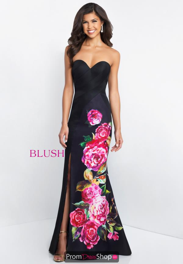 Blush Fitted Floral Dress C1038