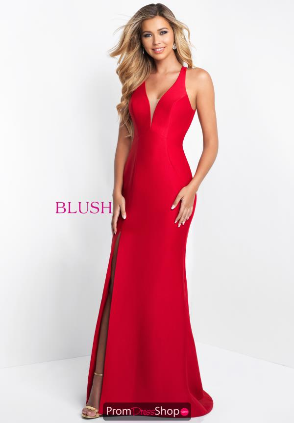 Blush Long Fitted Dress C1052