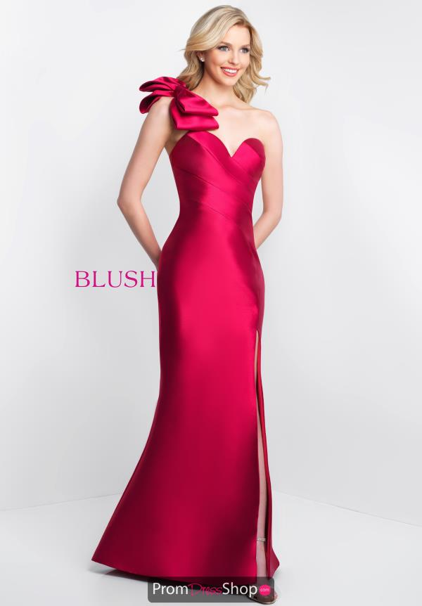 Blush Long Fitted Dress C1055