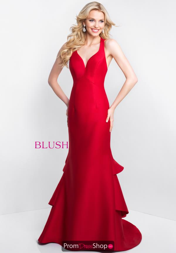 Blush Open Back Fitted Dress C1059