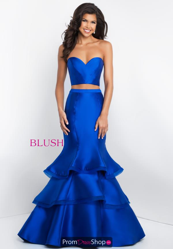 Blush Strapless Mermaid Dress C1064