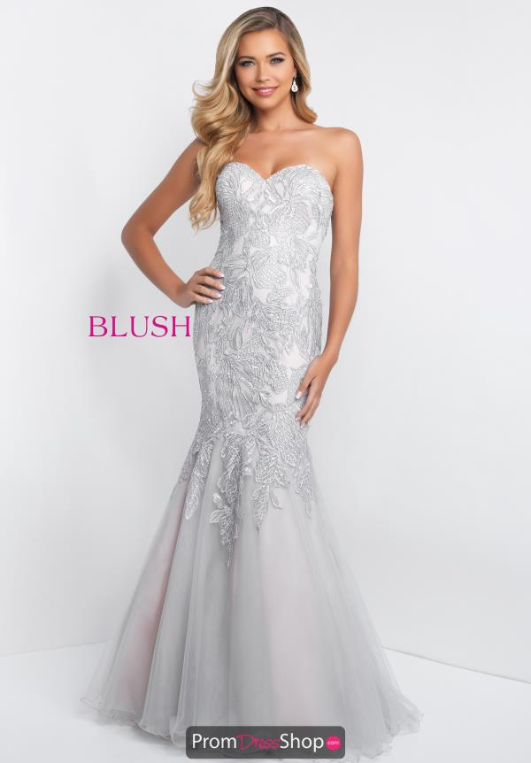Blush Strapless Beaded Dress C1068
