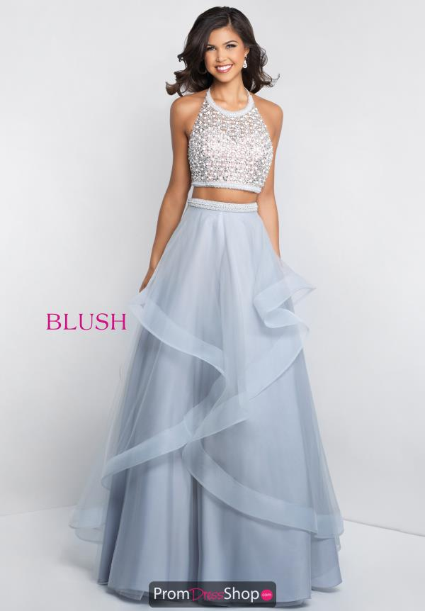 Blush Two Piece Beaded Dress C1072