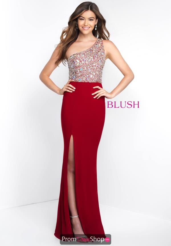 Blush Long Red Dress C1084