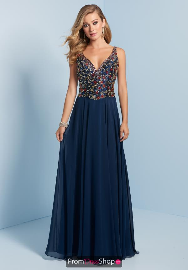 Splash V- Neckline Beaded Dress J705