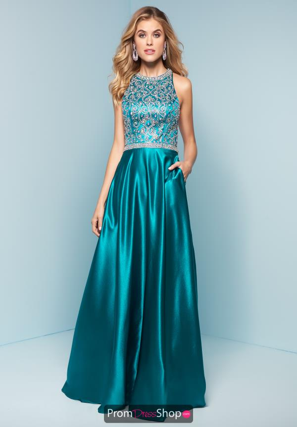 Splash Beaded Long Dress J764