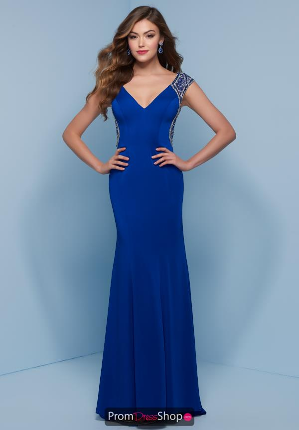 Splash Long Fitted Dress J766