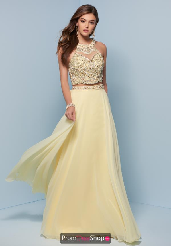 Splash Long Beaded Dress J768