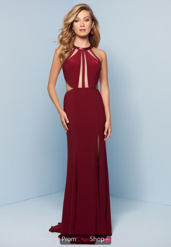 Splash Long Fitted Dress J793