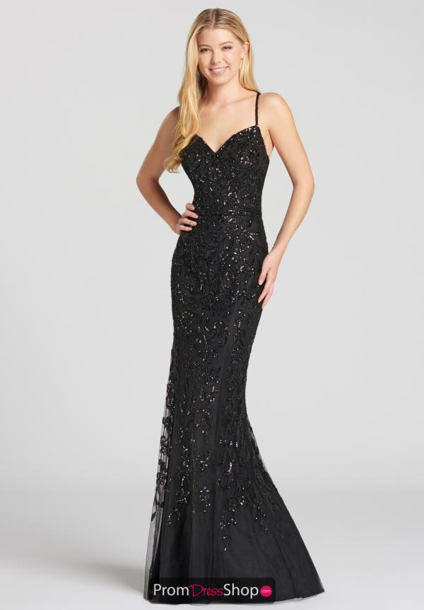 Ellie Wilde Beaded Long Dress EW118077