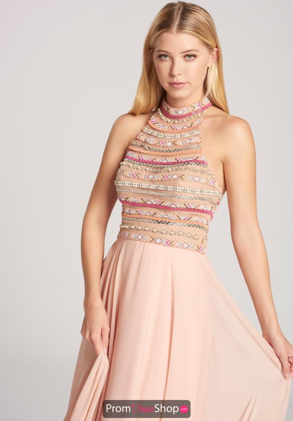 Ellie Wilde Beaded Halter Dress EW118155
