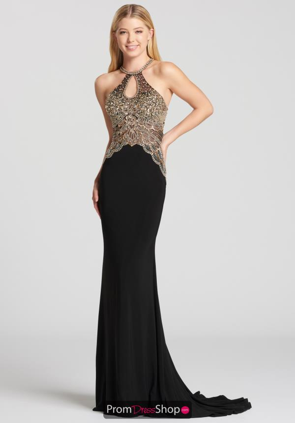 Ellie Wilde Halter Beaded Dress EW118165