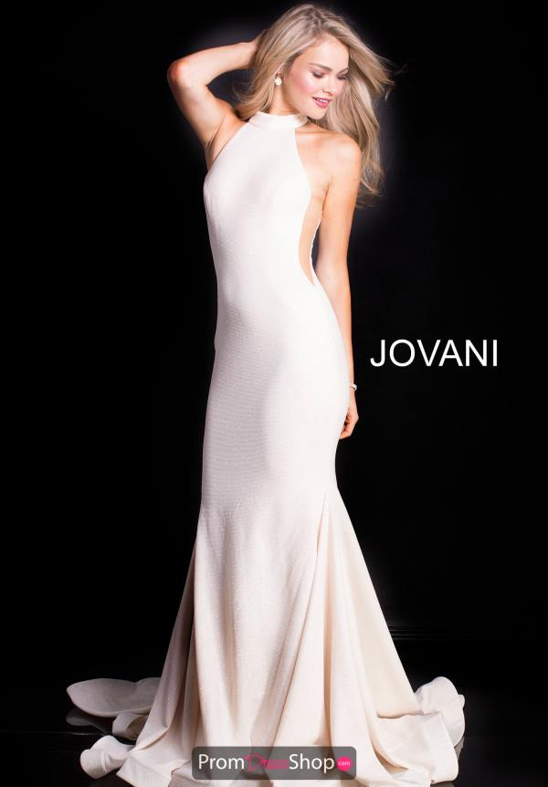 Jovani High Neckline Fitted Dress 55185