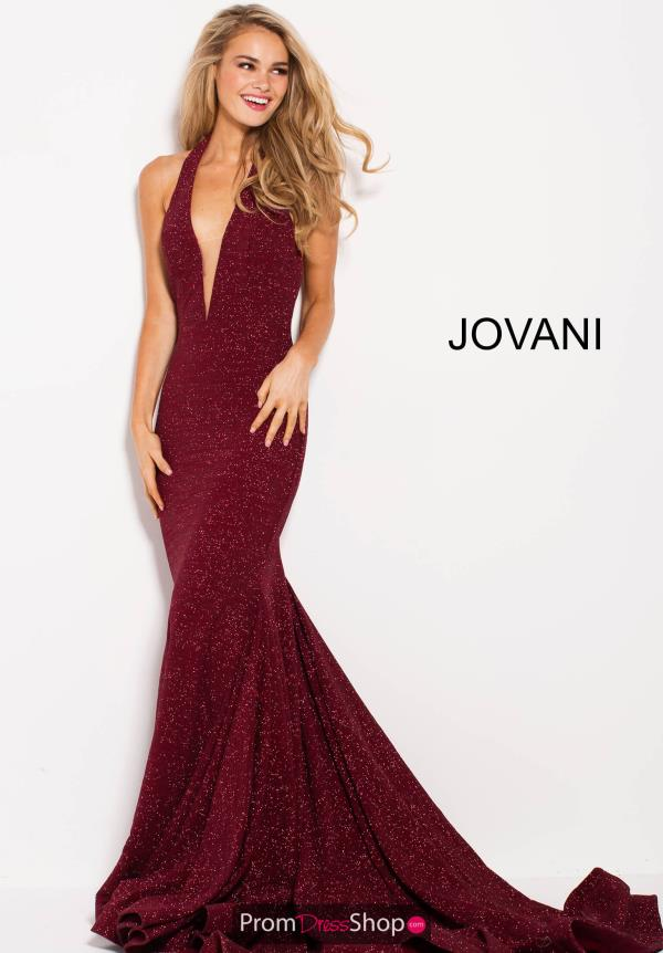 Jovani V-Neck Long Dress 55414