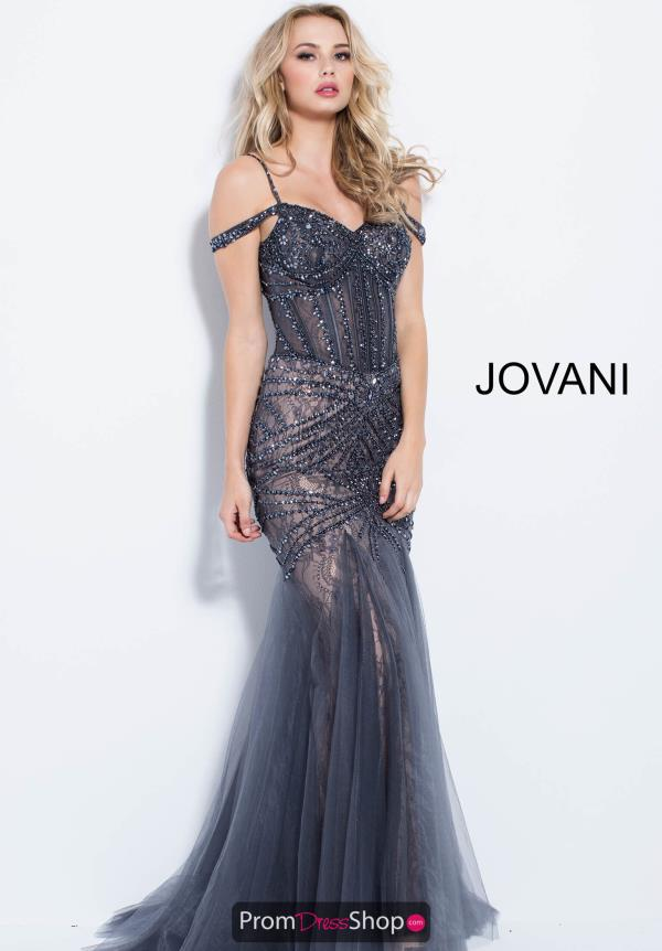 Jovani Off the Shoulder Dress 55876