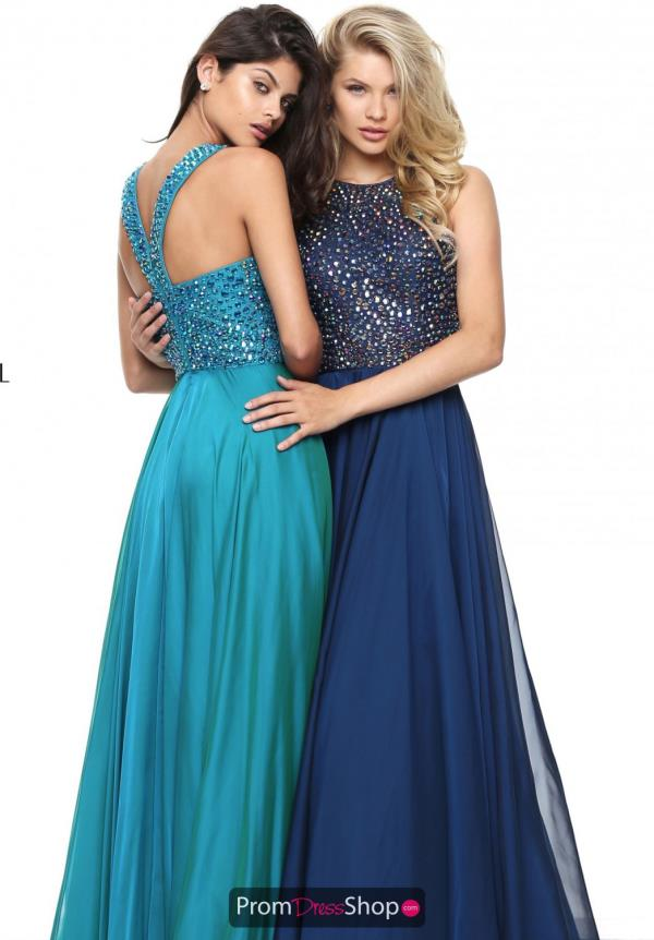 Long Beaded Sherri Hill Dress 50615