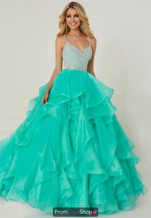 Tiffany Beaded Ball Gown Dress 16300