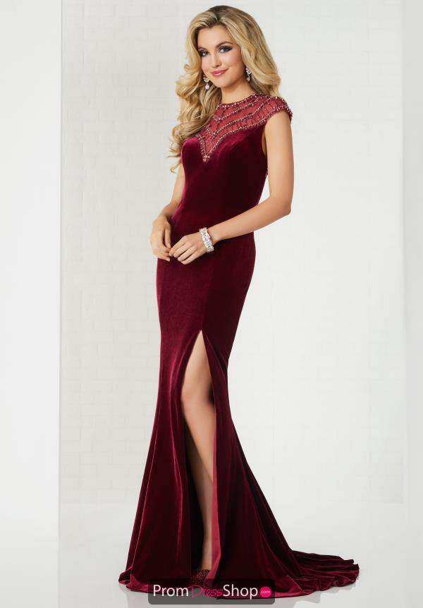 Tiffany Cap Sleeve Velvet Dress 46119