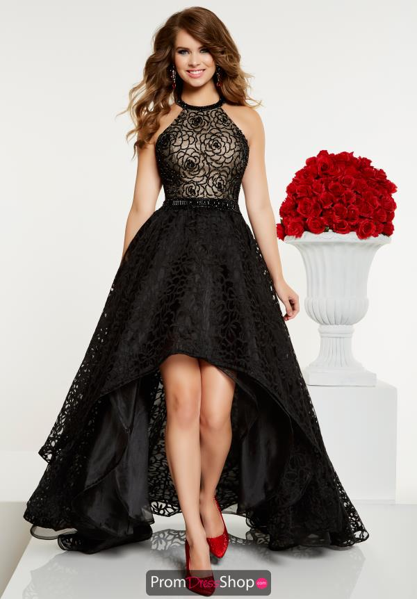 Panoply High Neckline High Low Dress 14893
