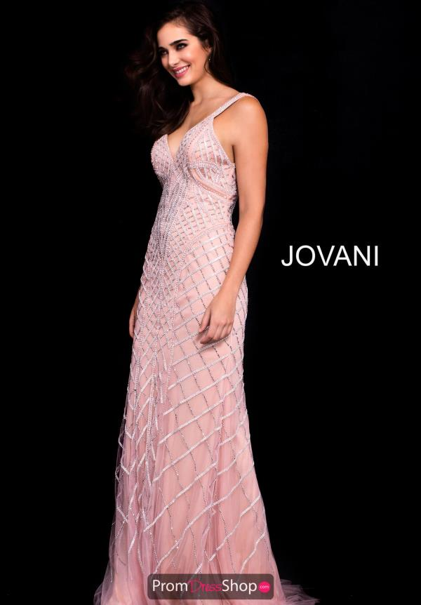 Jovani Beaded Pink Dress 55821
