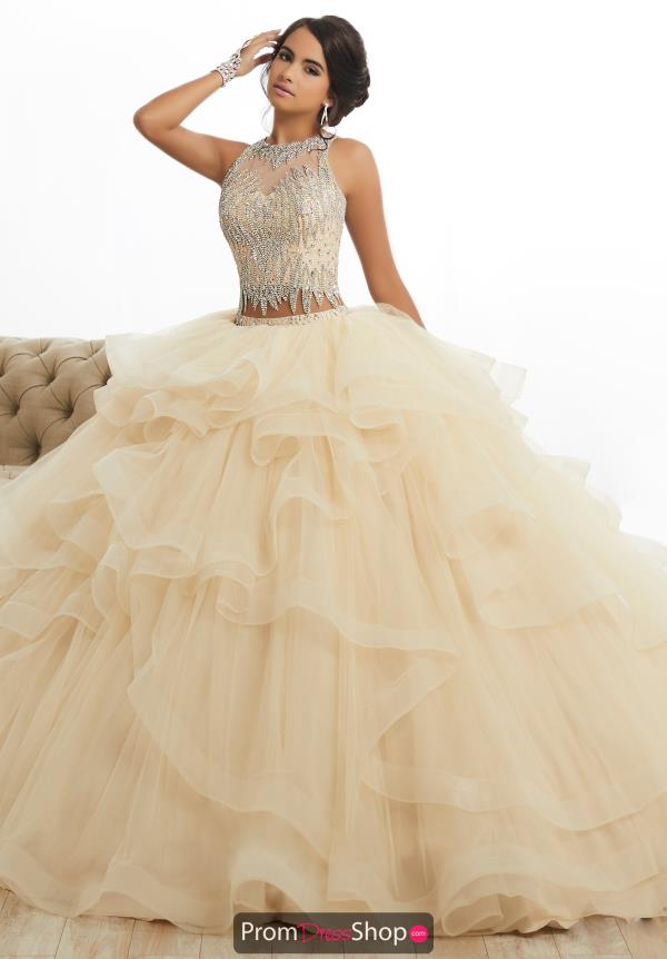 Tiffany Quinceanera Long High Neck Ball Gown 26882