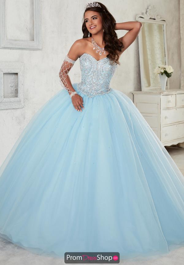 Tiffany Quinceanera Strapless Tulle Gown 56298