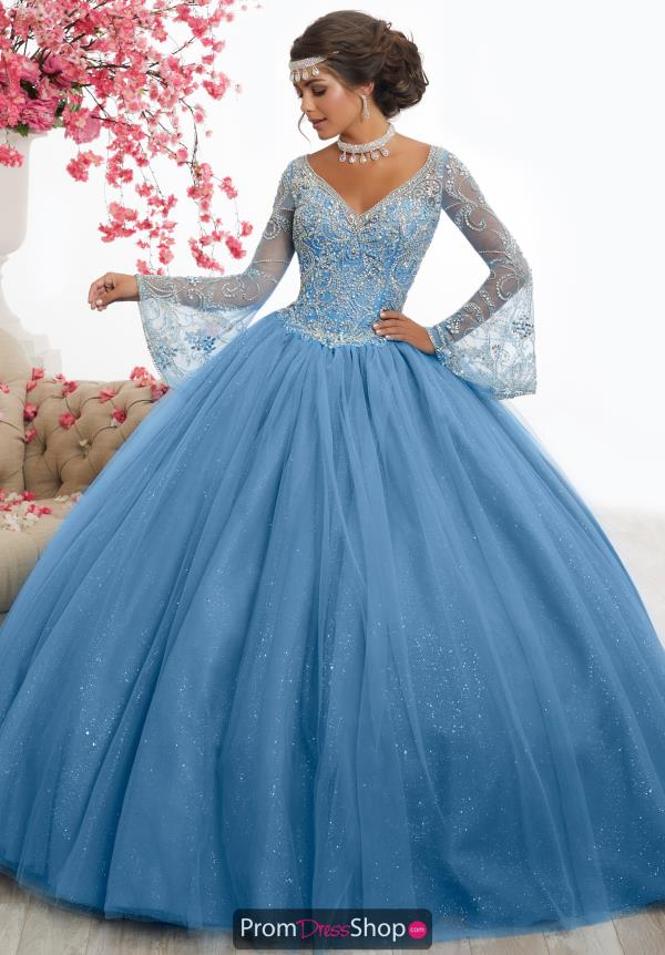 Tiffany Quince Long V Neck 56346 Dress