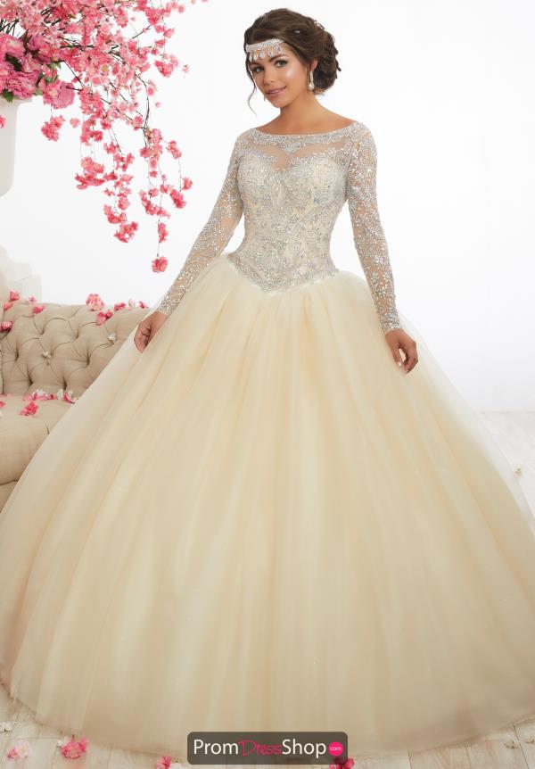 Tiffany Quince Tulle Long Sleeved 56347 Dress