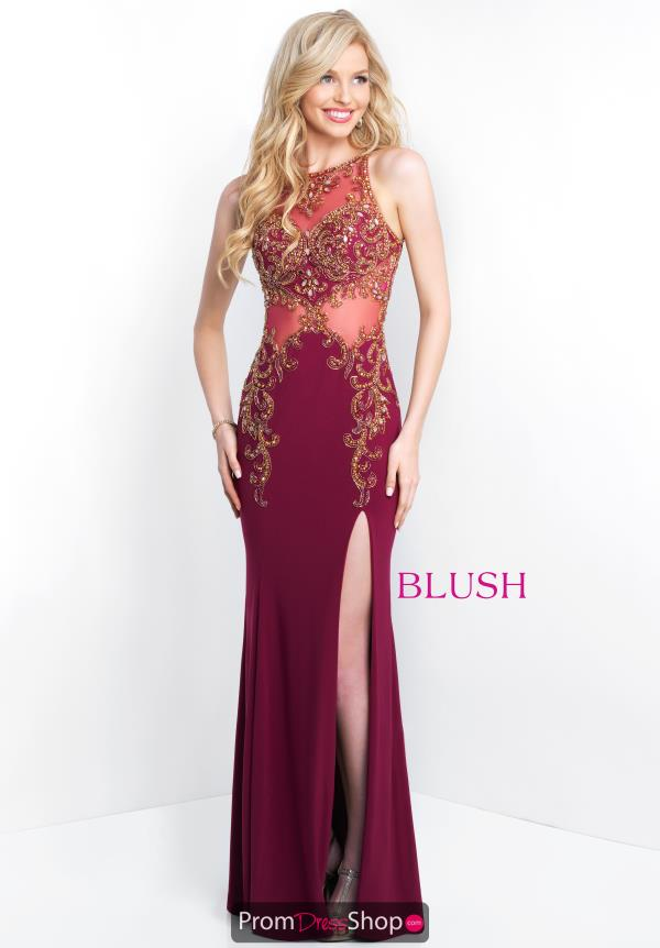 Open Back Fitted Blush Dress 11038
