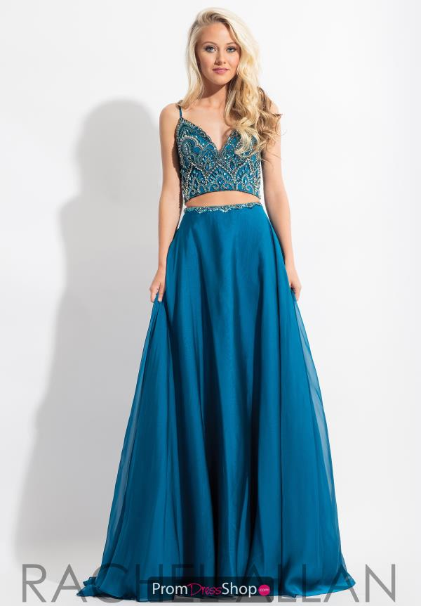 Rachel Allan Beaded V-Neck Dress 6034